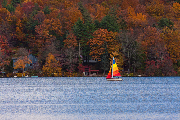 Sailboat on Crystal Lake, Ellington, CT.